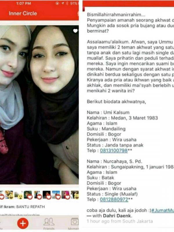 Dua Wanita Cantik ini Ingin Dinikahi Satu Pria