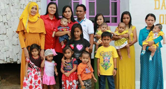 Baru Berumur 38 Tahun, Pria ini Punya Sembilan Istri dan Hidup Rukun dalam Satu Rumah