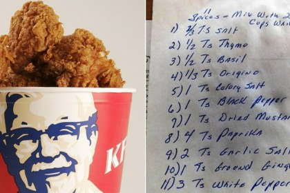 Resep KFC Terbongkar
